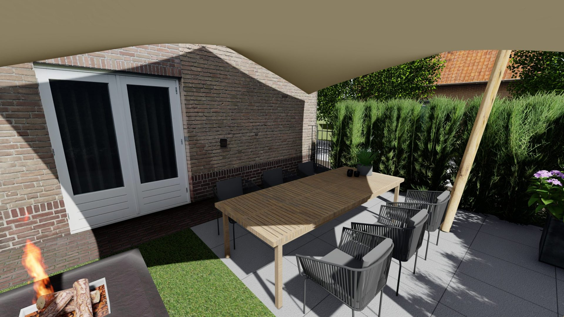EPIC Living Garden Shelters - Versailles 3D 4